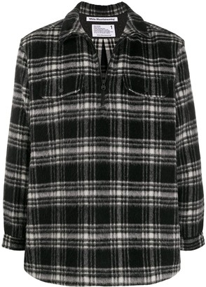 White Mountaineering Check Half-Zip Shirt