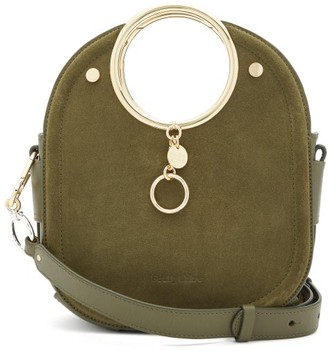 See by Chloe Mara Suede And Leather Bag - Khaki