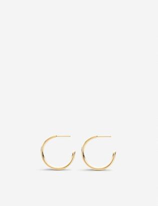 Monica Vinader Fiji 18ct gold hoop earrings large