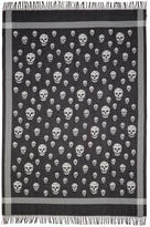 Alexander McQueen Black and Ivory Skull Blanket