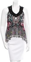 Matthew Williamson Embellished Pleated Top