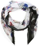 Daniel Light Weight Black Butterfly Print Scarf
