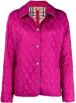 Burberry Pre-Owned Diamond-Quilted Jacket