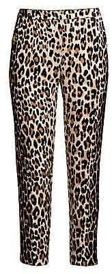 Escada Women's Talarantu Leopard-Print Ankle Pants