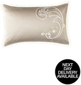 By Caprice Duchess Heart Sequin Embroidered Pillowcase Pair