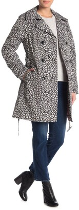 Kate Spade Leopard Double Breasted Trench Coat
