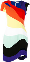 Thierry Mugler rainbow cut-out dress - women - Polyester/Acetate - 36