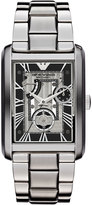 Emporio Armani Large Rectangular Stainless Steel Two-Hand Watch