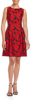 Tommy Hilfiger Sleeveless Floral Jacquard A-Line Dress