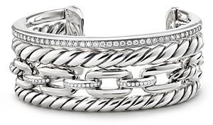 David Yurman Wellesley Cuff with Diamonds, 27mm