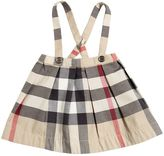 Burberry Cotton Gabardine Skirt W/ Suspenders