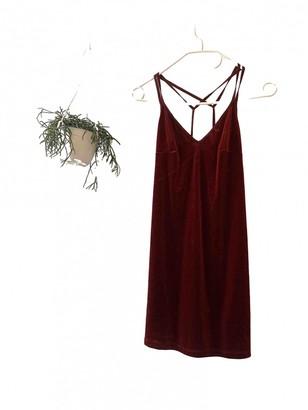 Topshop Tophop Burgundy Velvet Dress for Women