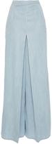 Blumarine Heathered Blue Wide Leg Trouser