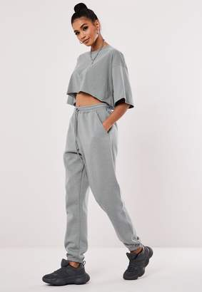 Missguided Grey Oversized 90S Joggers