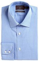 Black Brown 1826 Slim Fit Checked Cotton Dress Shirt