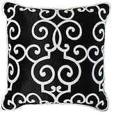 Veratex Deville Scroll-Embroidered Square Pillow