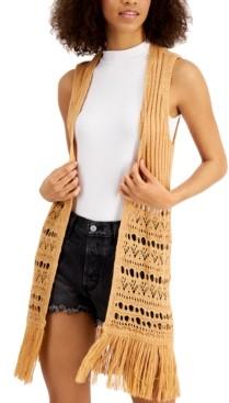 Freshman Juniors' Fringed Vest