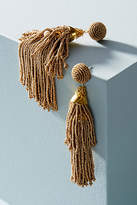 Suzanna Dai Irene Beaded Tassel Drop Earrings
