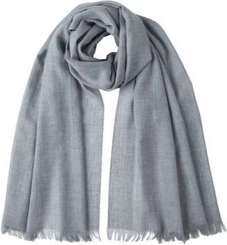 Johnstons of Elgin Silver Merino Scarf