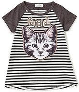 Jessica Simpson Big Girls 7-16 Harrington Striped Cool Cat Top