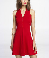 Express Zip Front Fit And Flare Dress