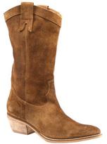 Diba Cognac Pre Tender Suede Cowboy Boot