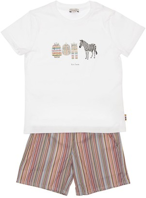 Paul Smith Cotton Jersey T-Shirt & Striped Shorts
