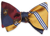 Brooks Brothers Mini BB#1 Stripe with Crest Reversible Bow Tie