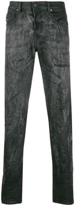 Diesel treated slim-fit jeans