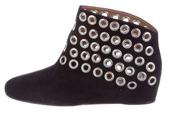 Alaia Suede Embellished Booties