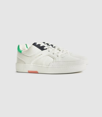 Reiss Grendon - Leather Trainers in Multi