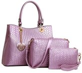 GUGGE Womens Woven Bag Three-piece Picture-portable Shoulder Bags(C6)