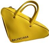 Balenciaga Triangle Yellow Leather Handbags