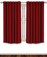 Utopia Bedding Blackout Room Darkening Curtains Window Panel Drapes - Burgundy Color 2 Panel Set, 52 inch wide by 63 inch long each panel, 7 Back Loops per Panel, 2 Tie Back Included -