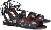 Tabitha Simmons Indigo Denim Cruz Embroidered Sandals