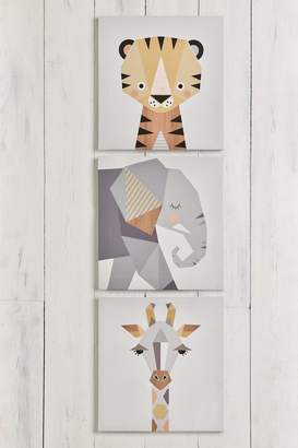 Next Set of 3 Animal Canvas By Little Design Haus Wall Art - Grey