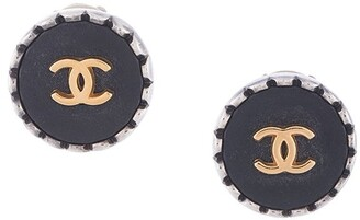 Chanel Pre Owned 1996 scalloped edge CC earrings