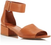Vince Women's Rosalia Leather Block Heel Ankle Strap Sandals
