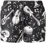 Dolce & Gabbana musical instrument swimming trunks - men - Polyester - 3