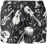 Dolce & Gabbana musical instrument swimming trunks - men - Polyester - 4