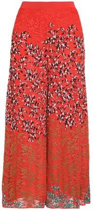 Missoni Embroidered Crochet-knit Wide-leg Pants