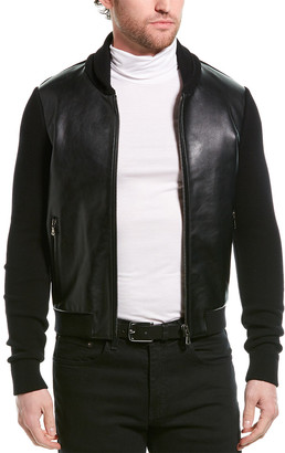 Dolce & Gabbana Leather-Paneled Jacket