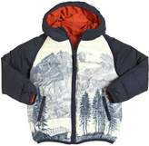 Nice Things Mountains Printed Nylon Puffer Jacket