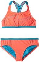 Nike Macro Swoosh Racerback Sport Top Brief Set Girl's Swimwear Sets