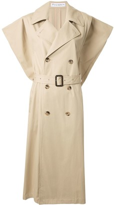 J.W.Anderson Kite sleeveless single-breasted trench coat