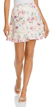 Aqua Printed Eyelet Mini Skirt - 100% Exclusive