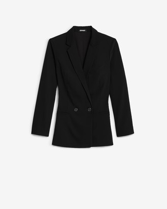Express Double Breasted Long Sleeve Boyfriend Blazer