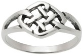 Journee Collection Women's Woven Diamond Celtic Knot Ring in Sterling Silver - Silver
