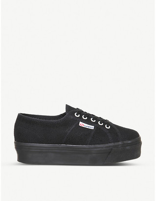 Superga Women's Black 2790 Canvas Trainers, Size: 5