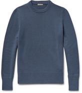 Bottega Veneta Ribbed Cashmere Sweater - Blue